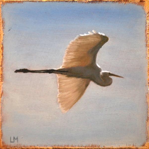 Soaring Egret Tile SOLD