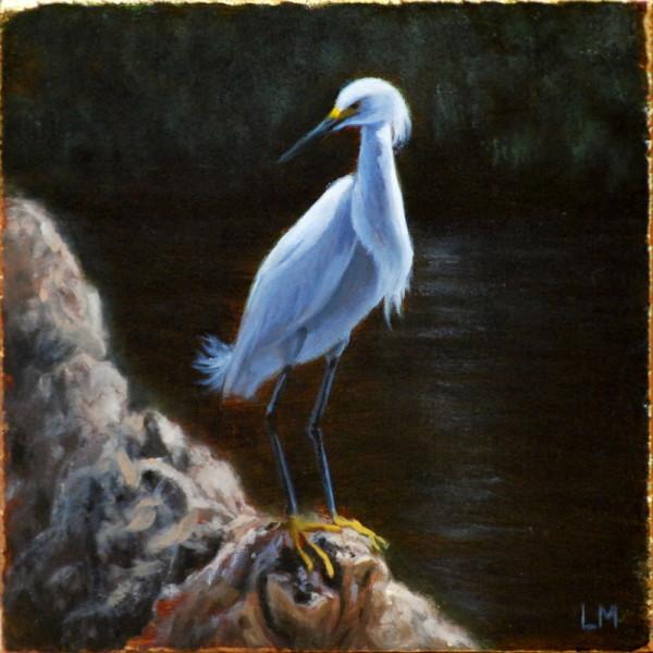 Snowy Egret Tile SOLD