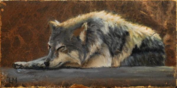 Sleeping Wolf Tile SOLD