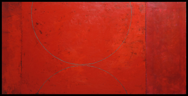 Red Arcs Painting