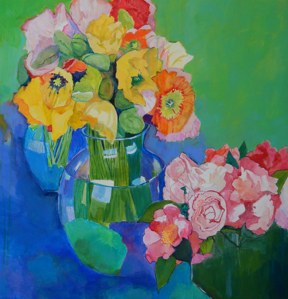 Poppies & Camelias