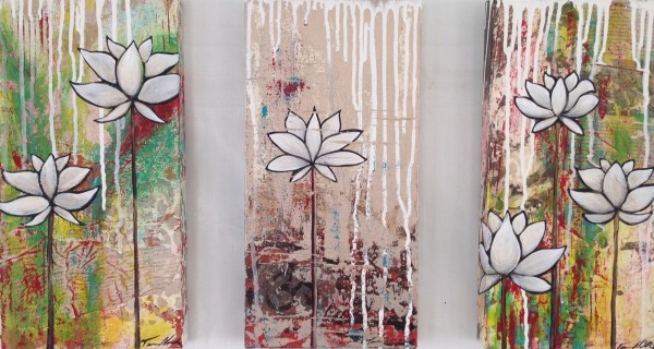 Lotus, triptych
