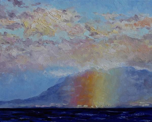 Rainbow Mountain Pink Sky