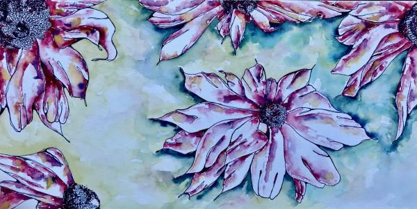 Cone Flower Daze | Original Artwork | 6x12