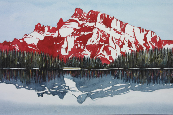 Mt.Rundle (looking from Banff towards Canmore)