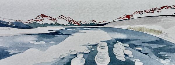 Spray Lakes | Original Artwork | 6x15.75