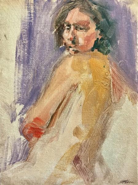 Woman Glancing
