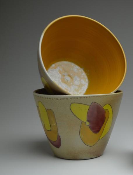 Set Flower Serving Bowls