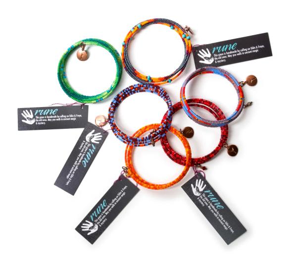 Orange Multi-color Beaded Bracelet