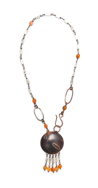 Dance in the fire shield necklace