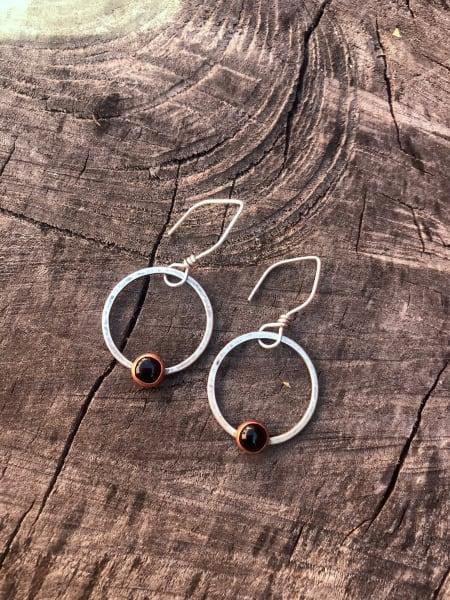 Onyx in Orbit Earrings