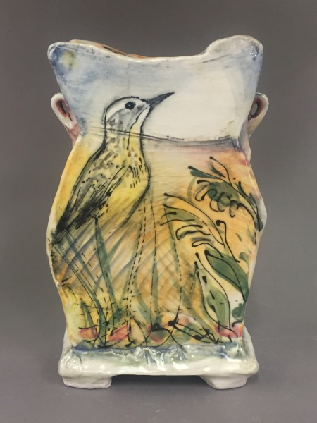Vase: Birds/Plants