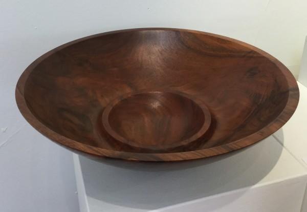 Walnut Double Bowl