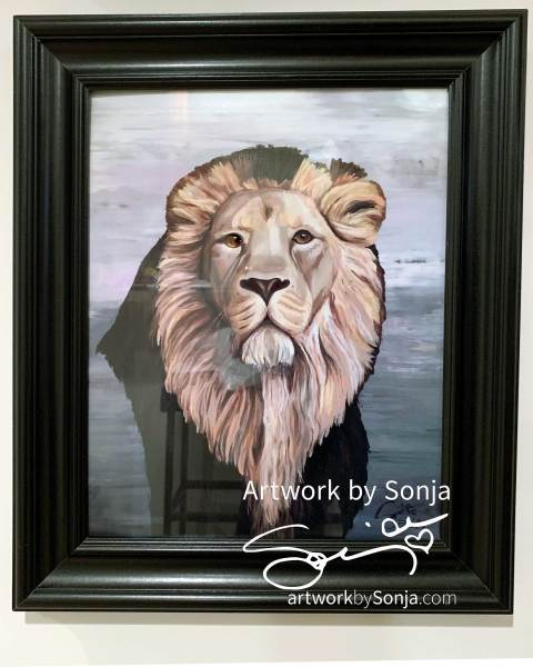 Ryan's Lion Framed Print