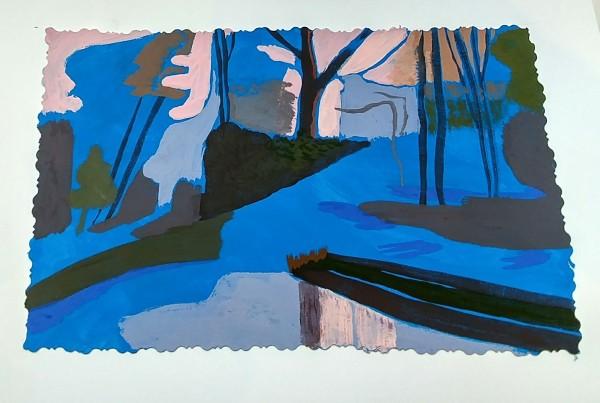 After Matisse, Blue landscape