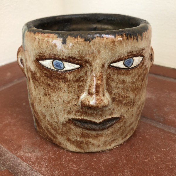 Thoughtful Gaze succulent pot