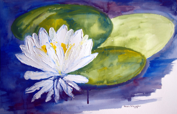 the white lotus grows to the edge of the moon