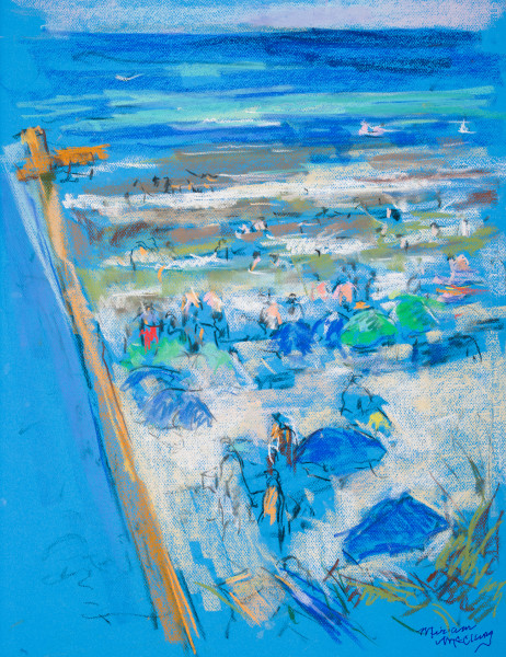 Figures on Inlet Beach and Easel