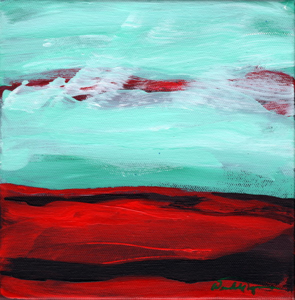 Green Sky over Red