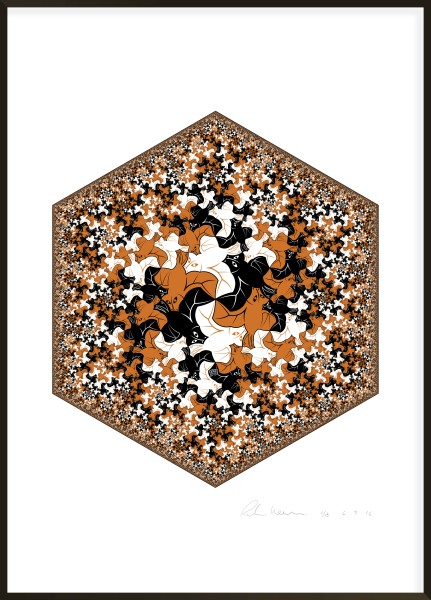 Hexagonal Limit - Bat Fractal I #3 of 8