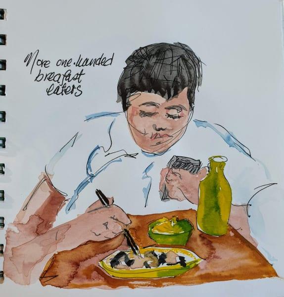 One-handed Dumpling-eater