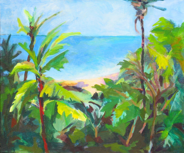 Sanibel Beach Through Jungle