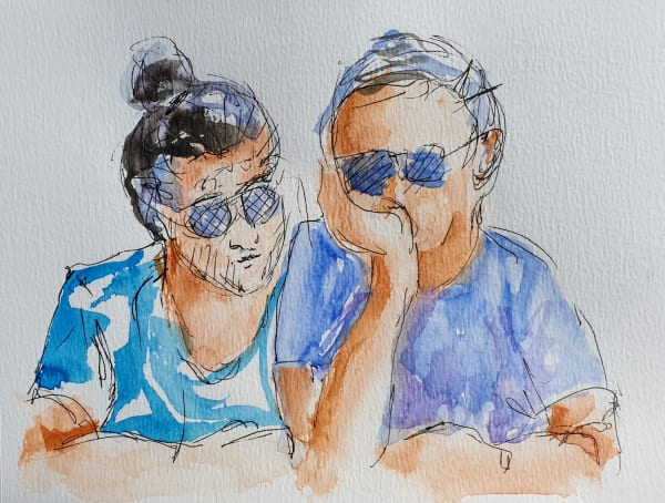 Pair in Sunglasses
