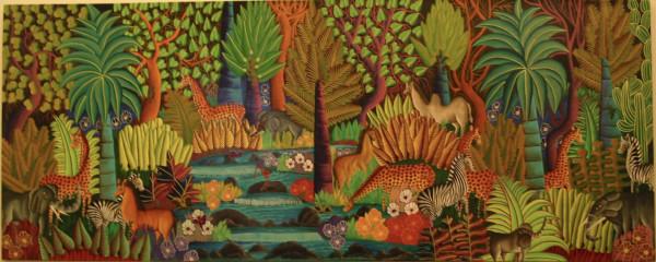 Haitian Jungle Scene