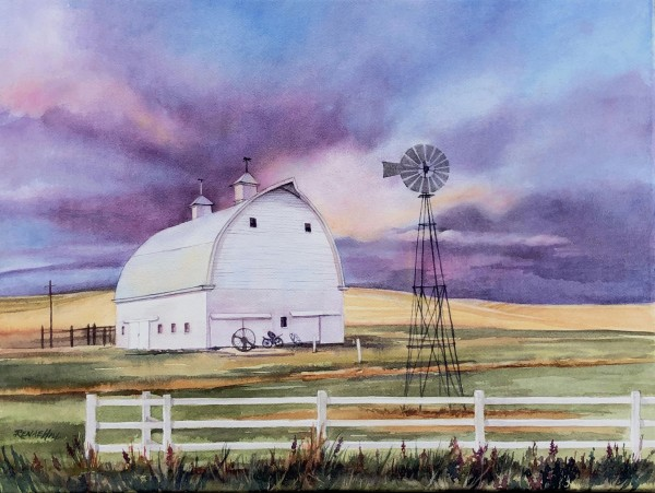 White Barn Commission plus 2 18x24 Prints