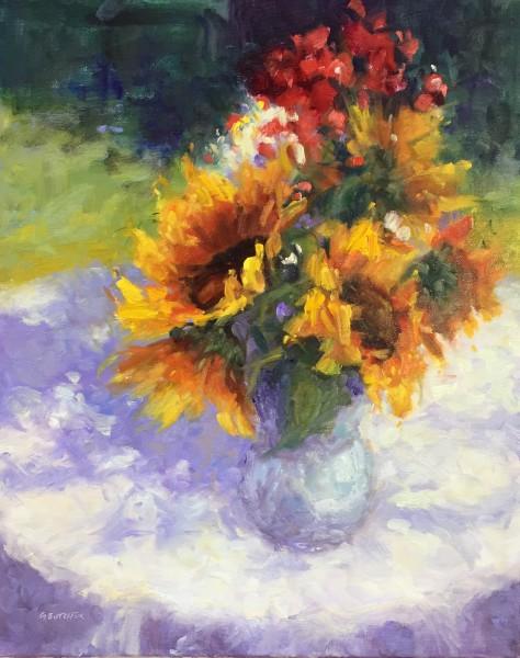 Sunflowers and Geraniums