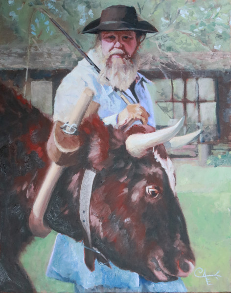 Williamsburg Ox Cart Man