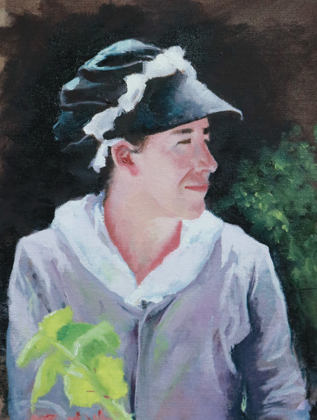 Williamsburg Girl in the Garden