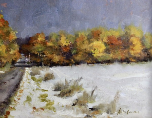 First Snow Emmet Heights Road-study