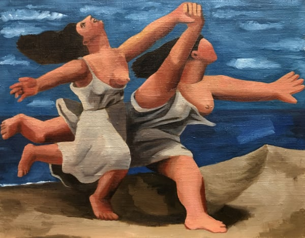 Women Running On Beach (after Picasso)