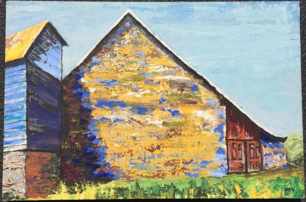 Great Barn at Arrandale with Shadow