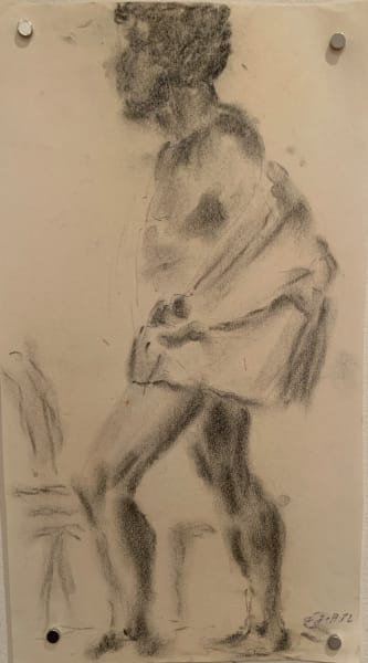 Male Nude With Coat