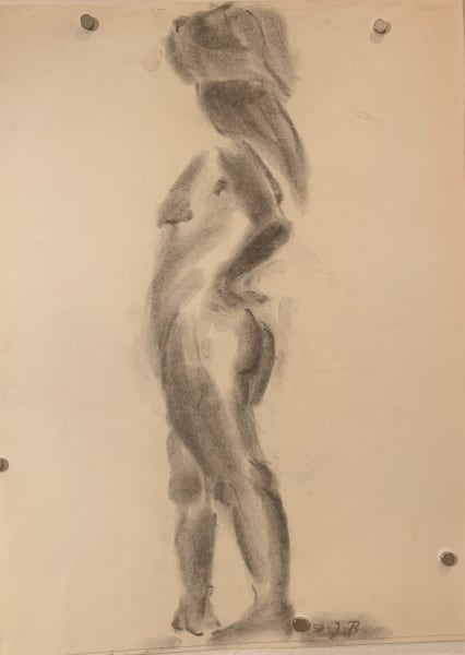 Female Nude Stepping Out