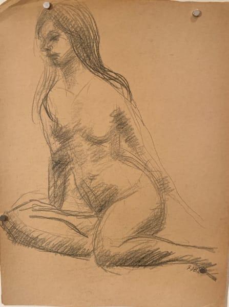 Female Nude Looking Down