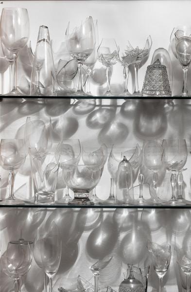 Collection of wine broken glasses from the series Shards   Coleção de taças de vinho quebradas da série Estilhaços