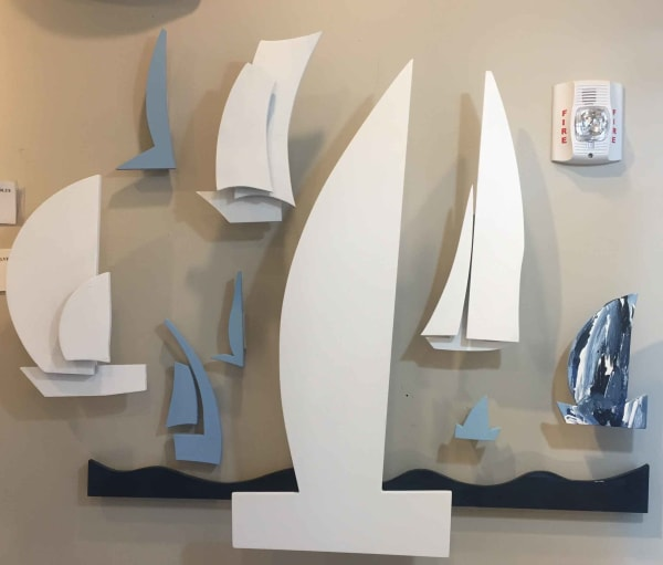 Floating Boat Wall Sculpture