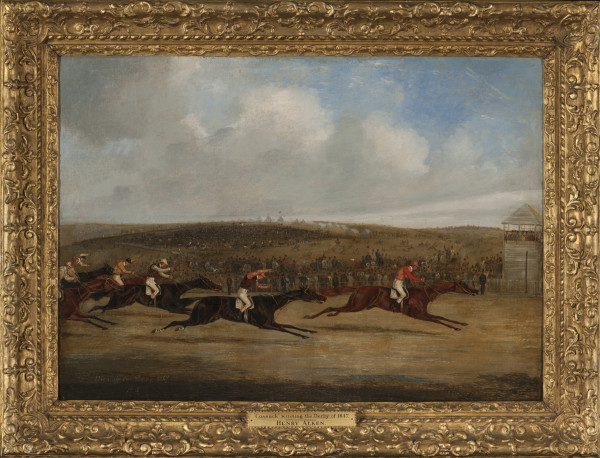 Start for the Derby, 1847 and Cossack Winning the Derby, 1847; a pair