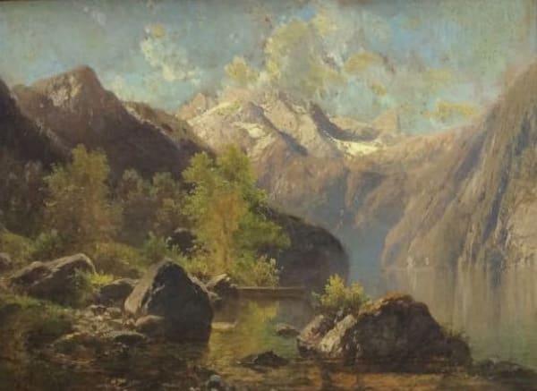 German School, Mountain Landscape