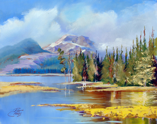 Evening On South Sister I by Pat Cross