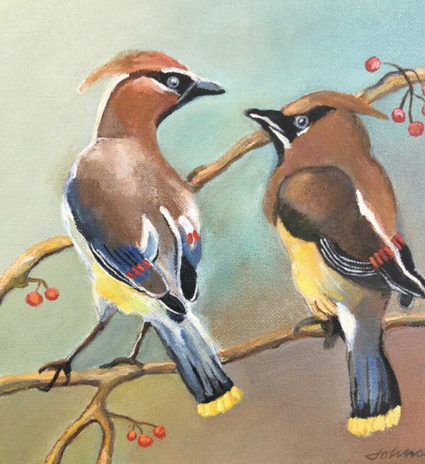 Cedar Waxwing III by Nancy Johnson
