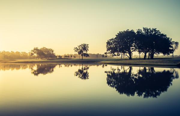 Sunrise by the Lake by Arun Shrestha