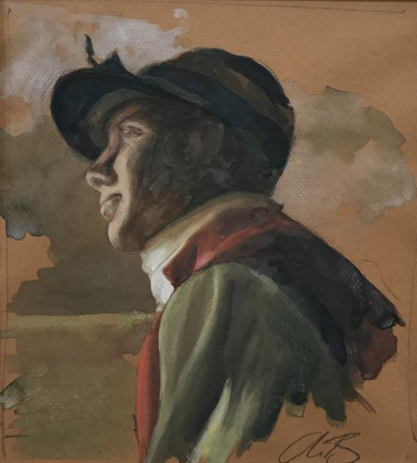 Jockey Study by Alan Brassington