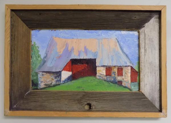 Red Wall Barn by Barnlady
