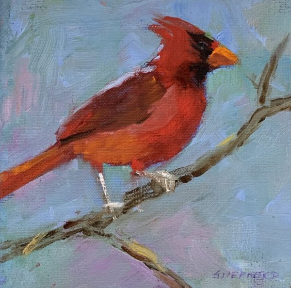 Cardinal on Post by Liz Shepherd