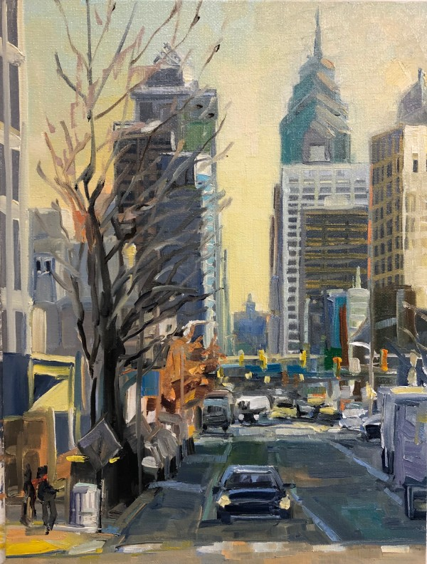 Market St. Morning Commute by Elaine Lisle
