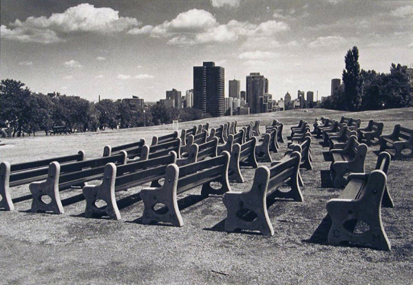 Empty Rows of Benches by N. Jay Jaffee